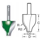 Bossingpaneelfrees Vertikaal 22mm radius C151X1/4TC