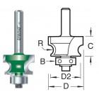 3.2mm radius Kraalprofielfrees C140X1/4TC