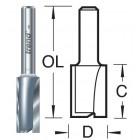 7mm groeffrees 2 snijvlakken 3/3X1/4TC