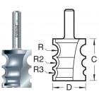 9/0X1/4TC Kraalprofiel drievoudig Multi