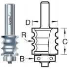 9/76X1/2TC Kraalprofiel drievoudig met Onderlager
