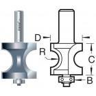 46/55X1/2TC Kraalprofiel halfrond onderlager