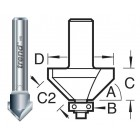 11/2X1/2TC V-groeffrees 45°