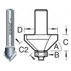 11/2X1/4TC V-groeffrees 45°