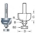 46/270X12MMTC Holprofielfrees met lagers R9,mm