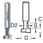 35/01X1/4TC Sleutelgatfrees 12,7mm