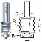 9/75X1/2TC Kraalprofiel drievoudig met Onderlager