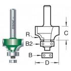 9.5mm radius x 15.9mm Afrond en Duivejagerfrees C078X1/2TC