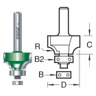 25.4mm radius x 32mm Afrond en Duivejagerfrees C079BX1/2TC