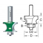 Bearing guided corner bead 7mm radius C215X1/4TC
