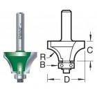 Kruisroedenfrees met lager 17mm radius C266X1/4TC